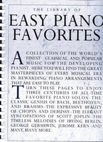 The library of Easy Piano Favorites, piano solo